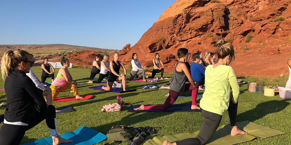 Outdoor Yoga at Sand Hollow Resort