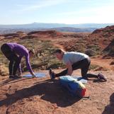 comforatble enough for yoga on the rocks