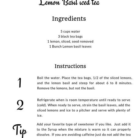 Week 9: Lemon and Thai basil Iced tea
