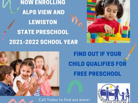 Preschool Enrollment is On!