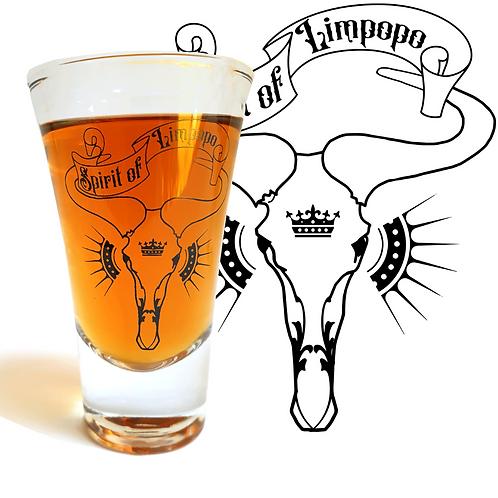 Spirit Of Limpopo Double Sun Skull Shot Glass