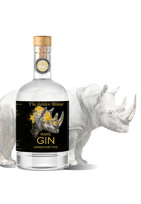 The Golden Rhino Rare Gin 500ml case