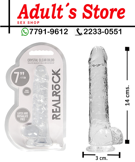 Dildo Real Rock Crystal Clear 7´´