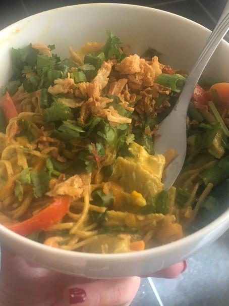 Veg-Packed Vegan Laksa Noodles