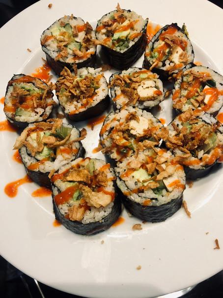 Spicy Satay Tofu Sushi