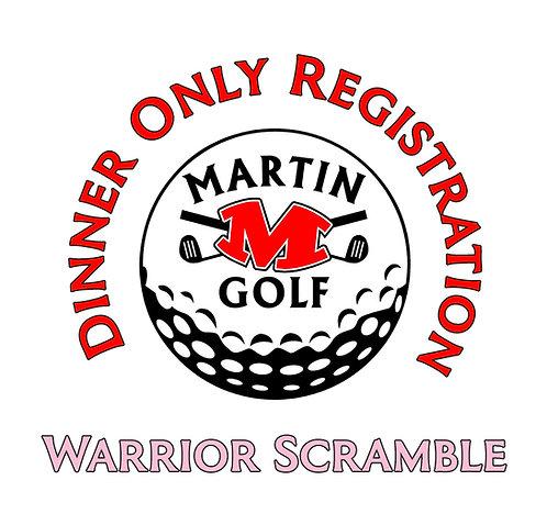Golf Tournament Dinner only