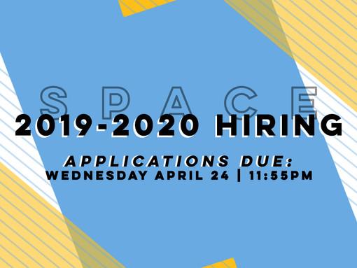 SPACE is hiring!