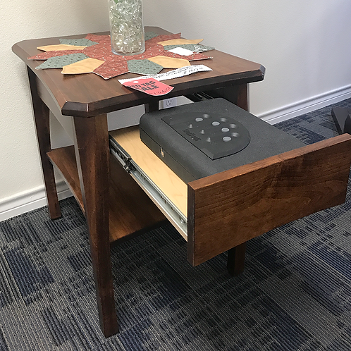 Perry End Table w/ Gun Safe