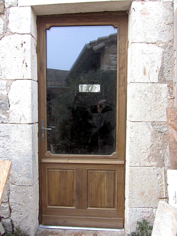 Porte vitrée vitrage arrondi