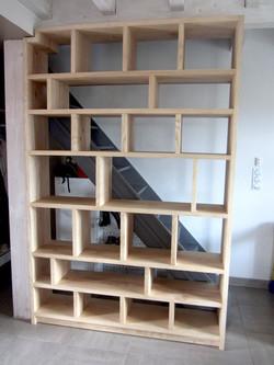 Staircase Bookshelve  solid ash wood