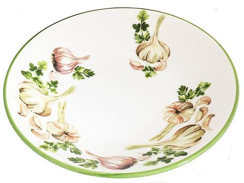 Garlic & Herbs Porcelain Pasta Bowl