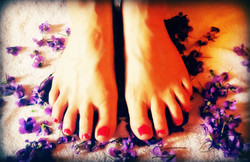 Perfect Feet with Violets