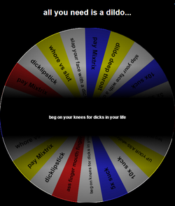 all you need is a dildo wheel