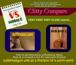 Clitty Compare butterballgurl vs sub boy c