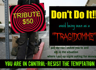 """Don't Do It! Reasons Not To Be A """"TragiDomme"""""""