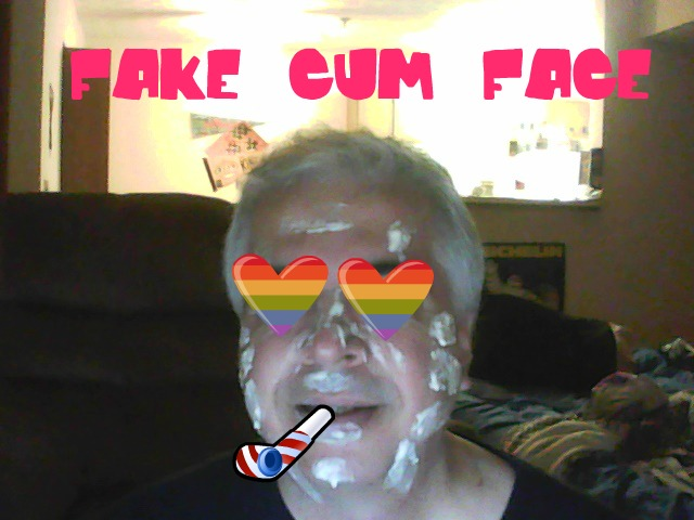 FAKE CUM FACE