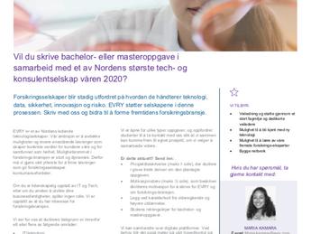 Oppgaveskriving i samarbeid med et av Norges største tech- og konsulentselskap?