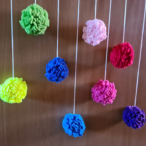 Coloured Fleece Cat Balls (2 per pack)
