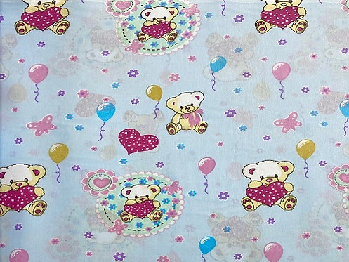 Teddy Bear (Lovehearts) - Dog Bandana (Through The Collar) (Collar Not Included)