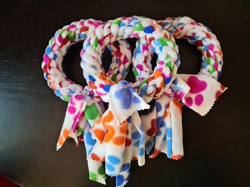 LARGE Limited Edition Paw Print Rosette Tug Toy