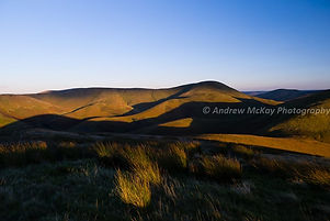 Scottish moorland sunset