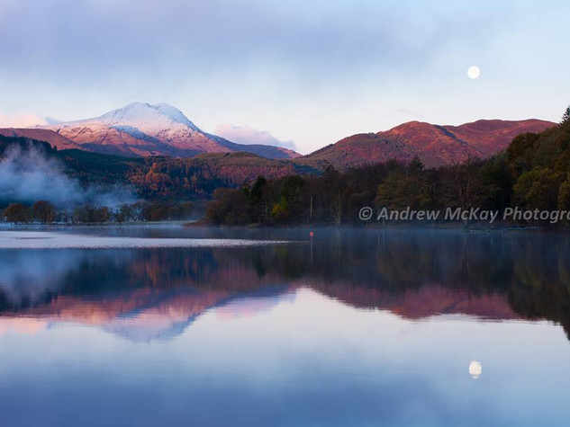 Winter Moon & Ben Lomond