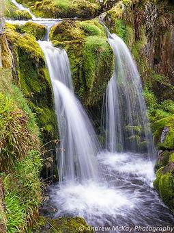 Waterfall in the Campsie Fells