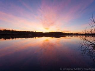 Pre-dawn pink, Loch Rusky