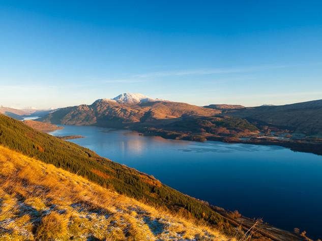 Loch Lomond Winter Dawn pano