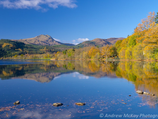 Ben Lomond reflections, Loch Ard