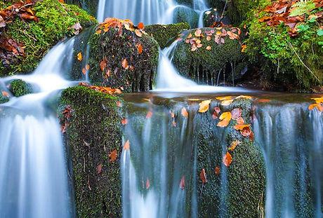 Waterfall rocks in the Campsie Fells