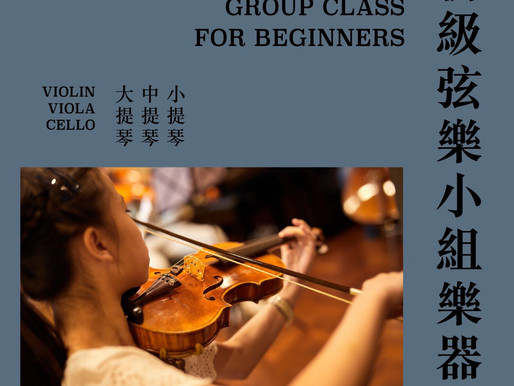 初級弦樂小組樂器班 Strings Group Class For Beginners
