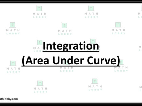 Integration- Area Under Curve