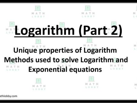 Logarithm Part 2