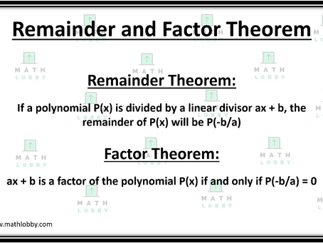 Remainder and Factor Theorem