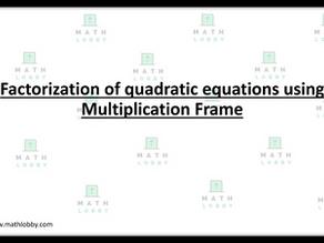 How to factorise quadratic equations using multiplication frame