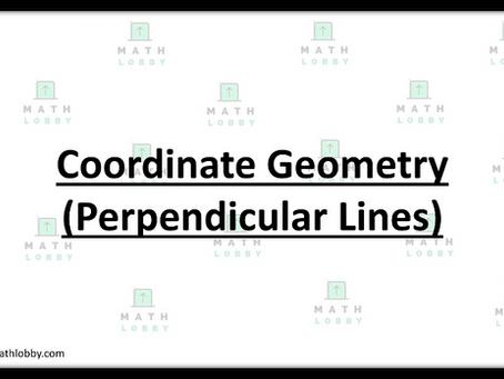 Coordinate Geometry (Perpendicular Lines)