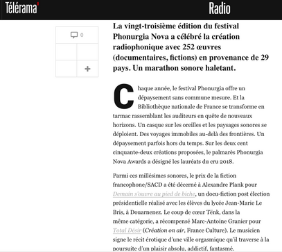 Télérama_Prix Phonurgia