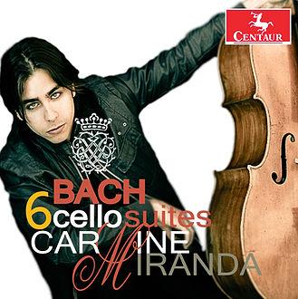Carmine Miranda Bach Six Cello Suites CD Cover