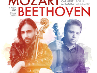 NOW AVAILABLE IN STORES MOZART I BEETHOVEN: VIOLIN AND CELLO DUETS