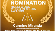 2016 HOLLYWOOD MUSIC IN MEDIA AWARDS NOMINATION: SCHUMANN | DVOŘÁK: CONCERTI FOR CELLO & ORCHEST