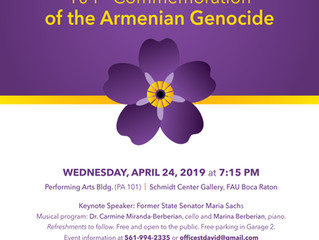 ARMENIAN GENOCIDE 104TH COMMEMORATION CONCERT