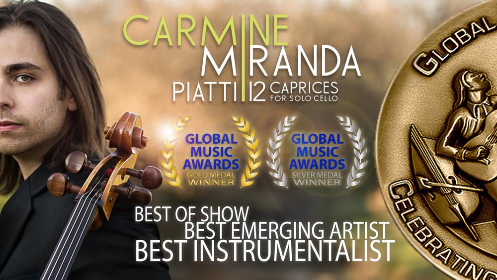 2014 GLOBAL MUSIC AWARDS GOLD MEDAL WINNER CARMINE MIRANDA