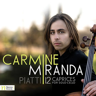 Carmine Miranda Alfredo Piatti: 12 Caprices for Slolo Cello CD Cover