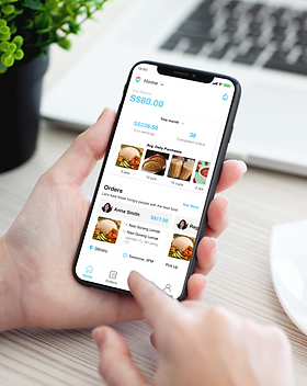 Male Hand Holding iPhone X Mockup PSD.pn