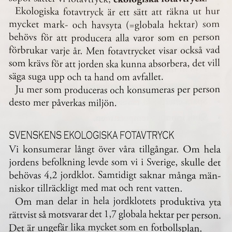 Svensk konsumtion utarmar världens resurser.
