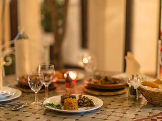 Dinner in the Riad Courtyard
