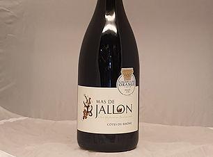 Bouteille de vin rouge domaine Mas de Jallon Côtes du Rhône