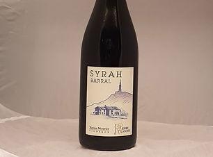 Bouteille de vin rouge domaine Xavier Mourier Syrah Barral