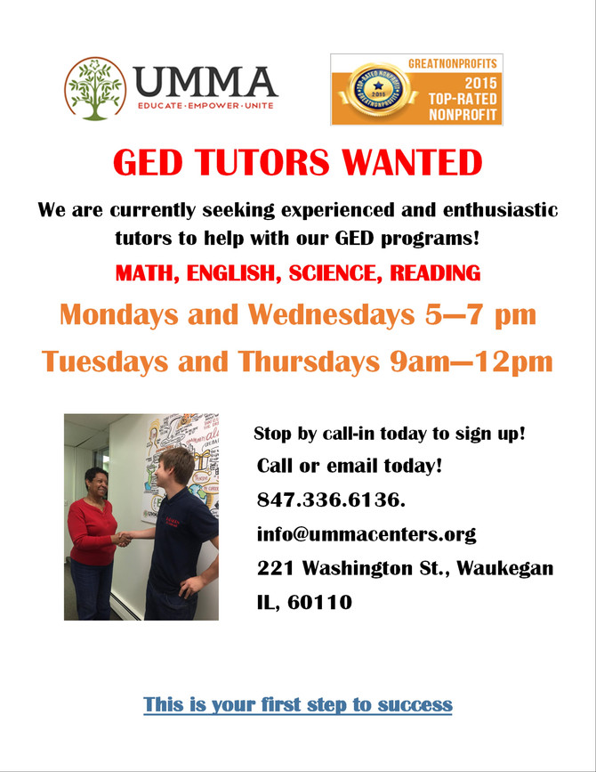GED Tutors Wanted
